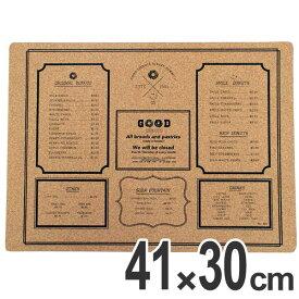 ランチョンマット コルク GOOD DONUTS 41×30cm ( ティーマット テーブルマット 食卓マット プレイスマット マット 撥水 )
