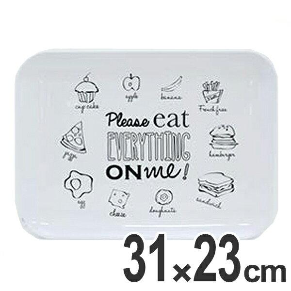 トレー メラミントレー PLEASE EAT EVERYTHING 31×23cm ( ティーマット テーブルマット 食卓マット プレイスマット マット 撥水 )