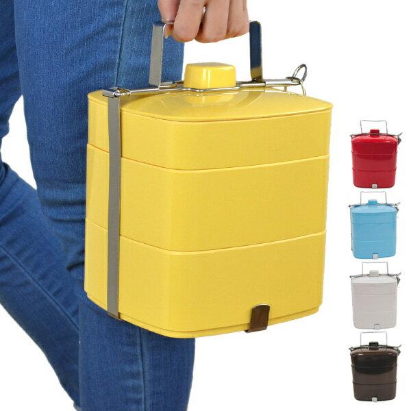 ピクニックランチボックス メラミン製 お弁当箱 3段 ( 重箱 ランチボックス オードブル重 お重 仕切り付 御重 洋風 大容量 ファミリーランチボックス 三段重 )