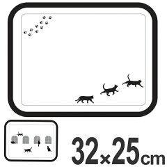 トレイ32×25cmメラミントレイネコ