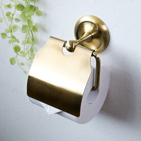 ペーパーホルダー アンティーク BISK DECO ビスク ( トイレットペーパー ホルダー 紙巻器 真鍮 収納 ペーパー カバー トイレ収納 リフォーム DIY 石膏ボード用 )