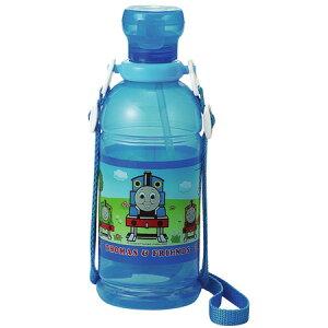 子供用水筒 きかんしゃトーマス ストロー付 プラスチックマグボトル 400ml キャラクター ( ストローボトル ペットボトルキャップ プラスチック製 ストローキャップ ボトル水筒 )