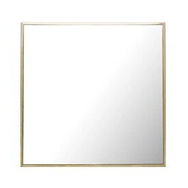 ミラー ウォールミラー 高さ40cm 壁掛け 鏡 かがみ アンティーク調 真鍮フレーム 正方形 角型 ( カガミ 姿見 壁掛け鏡 壁掛けミラー 壁 掛け 吊り下げ 玄関 リビング 四角 )