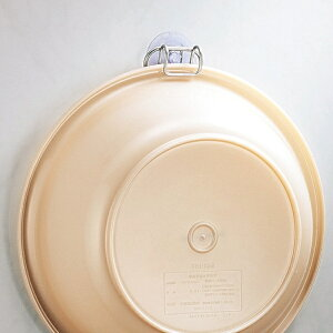 洗面器収納 バススタイル ダブルコーティング 湯おけホルダー バス収納 ( 洗面器 風呂おけ 収納 フック 吸盤 風呂桶 湯桶 水切り 水切りフック 掛ける 壁面 壁面収納 サビにくい 浮かせて収