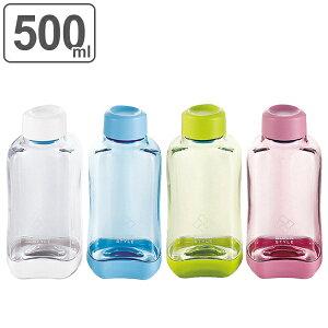 水筒 プラスチック ブロックスタイル アクアボトル BPAフリー 500ml ウォーターボトル ( ボトル 目盛り付き クリア プラボトル マグボトル スポーツ スポーツドリンク クリアボトル ダイレク