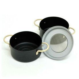 両手天ぷら鍋セット フライ鍋とオイルポット 16cm IH対応 オベ・フラ ( フライ鍋 鉄製 揚げ物鍋 てんぷら鍋 両手フライ鍋 油こし器 )