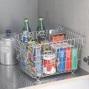 キッチン ストレージ 積み重ね バスケット ワイヤー ボックス