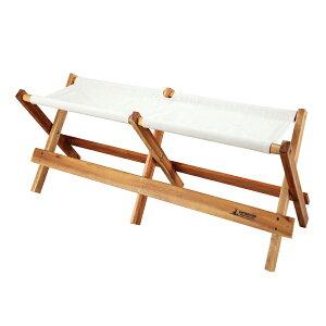 折りたたみベンチ 2人掛け 木製 キャンプ用品 ガーデンファニチャー ( 送料無料 ベンチ 折りたたみ チェア アウトドアチェア アウトドア キャプテンスタッグ 天然木 椅子 ガーデンチ