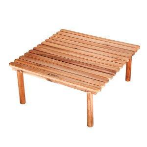 折りたたみテーブル 木製 ロータイプ ( 送料無料 ロールテーブル ピクニックテーブル 簡易テーブル ガーデンテーブル 折りたたみ 天然木 アウトドア レジャー )