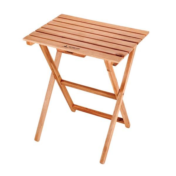 折りたたみテーブル 木製 サイドテーブル 幅50cm ( ハイルテーブル ピクニックテーブル 簡易テーブル ガーデンテーブル 折りたたみ 天然木 アウトドア レジャー )