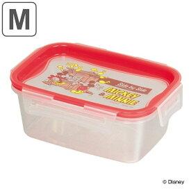 保存容器 ミッキー&ミニー 長方形 M 440ml プラスチック製 ( ディズニー 保存 プラスチック容器 Disney ミッキーマウス ミニーマウス プラスチック保存容器 4点ロック パッキン一体型 冷凍OK 電子レンジ対応 食洗機対応 )