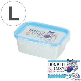 保存容器 ドナルド&デイジー 長方形 L 600ml プラスチック製 ( ディズニー 保存 プラスチック容器 Disney ドナルドダック デイジーダック プラスチック保存容器 4点ロック パッキン一体型 冷凍OK 電子レンジ対応 食洗機対応 )