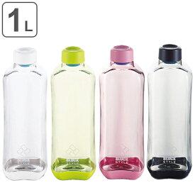 水筒 プラスチック ブロックスタイル アクアボトル 1L ウォーターボトル ( プラスチック製 スポーツボトル 直飲み ダイレクトボトル 1000ml スムージー ボトル クリアボトル マグボトル 常温 1000 クリア ボトル 軽量 目盛付き )