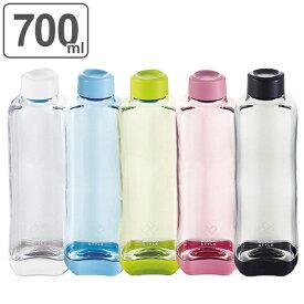 水筒 プラスチック ブロックスタイル アクアボトル 700ml ウォーターボトル ( プラスチック製 スポーツボトル 直飲み ダイレクトボトル スムージー ボトル クリアボトル マグボトル 容器 常温 700 クリア ボトル 軽量 目盛付き )