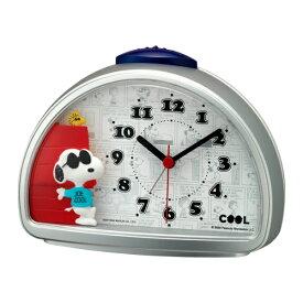 目覚まし時計 スヌーピー 4SE563MS19 ( 置き時計 置時計 アナログ 目覚し時計 ステップ秒針 アラーム クロック リビング オフィス デスク上 寝室 インテリア 雑貨 )