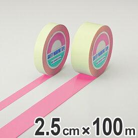 ガードテープ ピンク 25mm幅 100m GT−251P テープ 日本製 ( 送料無料 フロアテープ 屋内 安全 区域 標示 粘着テープ 区画整理 線引き ライン引き ラインテープ 室内 床 対応 専用 安全用品 用品 グッズ )