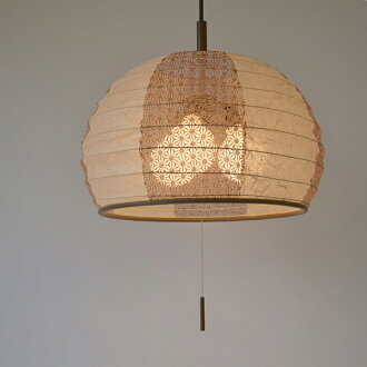 Pendant light Japanese paper pendant lamp cloud dragon beige X hemp leaf  Chinese tea tree 3 light (Japanese modern ceiling 3 light pendant LED  electricity ...