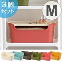 カラーボックス用収納ケース カタス M 3個セット ( 収納ボックス プラスチック 収納 カラーボックス 積み重ね ス…
