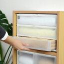 収納ケース ポスデコ ワイドサイズ 浅型3段 カラーボックス用 ( 収納ボックス カ...
