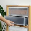 収納ケース ポスデコ ワイドサイズ 深型2段 カラーボックス用 ( 収納ボックス カラーボックス インナーボックス 引き出し 小物収納 収納用品 ワイドタイプ ...