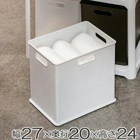 収納ボックス 収納ケース squ+ インボックス SD プラスチック 日本製 ( 小物入れ 収納 カラーボックス インナーボックス おもちゃ箱 コンテナ 積み重ね スタッキング 小物収納 インナーケース )