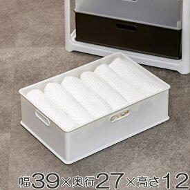 収納ボックス 収納ケース squ+ インボックス M プラスチック 日本製 ( 小物入れ 収納 カラーボックス インナーボックス おもちゃ箱 コンテナ 積み重ね スタッキング 小物収納 インナーケース )