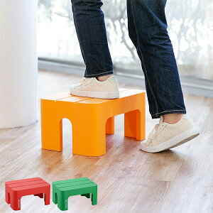 ステップ 台 踏み台 squ+ デコラステップ S 幅39cm 高さ20cm ( ステップ台 スツール 踏台 昇降 キッチン 高いところ 高所 屋内 屋外 玄関 滑り止め 花台 ふみ台 椅子 腰掛け 玄関 便利台 ぐらつか