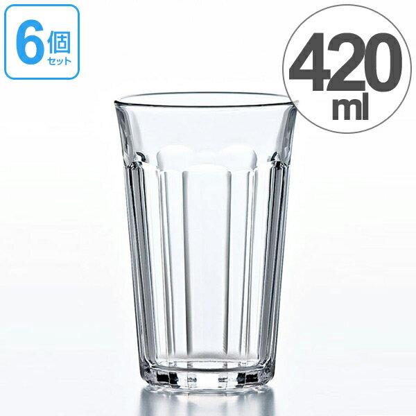 ガラス コップ ハイボールグラス タンブラー 420ml 6個セット ( グラス ガラス食器 食器 ハイボール ガラスコップ カップ 業務用 食洗機対応 )