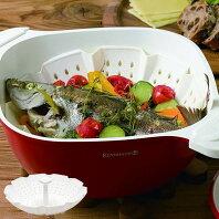 KEVNHAUN ケブンハウン シリコンスチームコランダー 丸型 蒸し皿 ( シリコン製 スチーマー ボウル 鍋 蒸し器