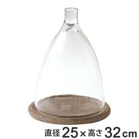 ガーデン オーナメント ガラス 高さ32cm ( ガーデン雑貨 インテリア 雑貨 ガーデニング 室内 フラワーアレンジ 観葉植物 植物 ドライフラワー プリザーブドフラワー お花 花 インテリア雑貨 DIY )