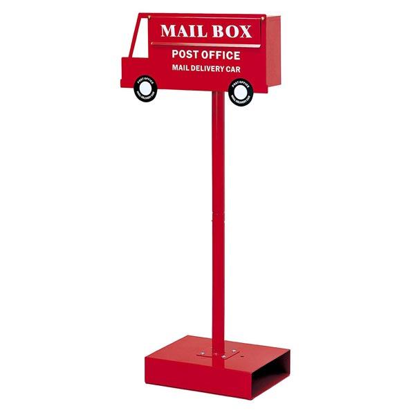 郵便ポスト メールボックス カー レッド ( 送料無料 ポスト 郵便受け メールボックス 新聞受け 玄関 ガーデン おしゃれ かわいい バス 車 くるま セトクラフト )
