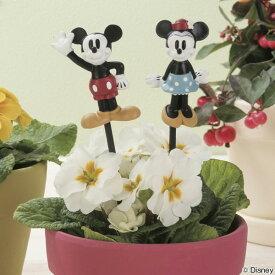 フラワーピック ミッキー ミニー ( ミッキーマウス ミニーマウス ガーデンピック ガーデンマスコット ディズニー ガーデン エクステリア セトクラフト かわいい おしゃれ )
