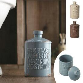 トイレポット 陶器 vintage ( サニタリーポット ダストボックス トイレ用 コーナーポット 汚物入れ トイレ収納 おしゃれ アメリカンヴィンテージ )