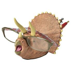 デスクキーパー ペン立て メガネスタンド 文房具 トリケラトプス 恐竜 ( 文具 眼鏡スタンド めがねスタンド プレゼント ダイナソー おもしろ ペンスタンド ペン入れ メガネ メガネ置き グッズ 雑貨 デスク用品 インテリア )