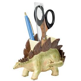 ステーショナリースタンド ペン立て 文房具 ステゴサウルス 恐竜 ( ペンスタンド 鉛筆立て 収納 デスク 文房具 文具 デスク収納 収納用品 デスク周り 整理 整頓 小学生 学習机 置物 リアル オブジェ ディスプレイ )