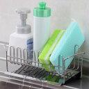スポンジラック TSUBAME 水が流れる 洗剤ラック ステンレス製 ( スポンジホルダー スポンジ置き キッチン用品 キ…