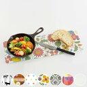 鍋敷き ガラス製 キッチントッププレート レクタングル ( 耐熱プレート 鍋敷 なべしき まな板 鍋置き 耐熱ガラス 強…
