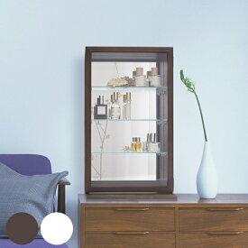 コレクションケース ガラスケース スカーラT 幅35cm ( 送料無料 キャビネット コレクション ラック ガラス 収納 シンプル 棚 完成品 小さめ 小型 木製 背面ミラー ディスプレイラック ディスプレイ )
