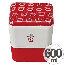 お弁当箱 2段 ZAPP スクエアネストランチ はかり 600ml ( 送料無料 ランチボックス 食洗機対応 入れ子 二段 弁当箱 レンジ対応 キューブ型 和柄 手ぬぐい柄 大人かわいい 日本製 )