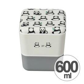 お弁当箱 2段 ZAPP スクエアネストランチ パンダ 600ml ( 送料無料 ランチボックス 食洗機対応 入れ子 二段 弁当箱 レンジ対応 キューブ型 和柄 手ぬぐい柄 大人かわいい 日本製 )