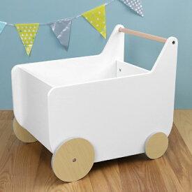 おもちゃ箱 KISSBABY おかたづけマイボックス おもちゃ 収納 カート型 組立品 ( 送料無料 おもちゃ収納 男の子 女の子 タイヤ付き 収納ボックス 収納ケース 車輪付き おもちゃ入れ 白 ホワイト おしゃれ )