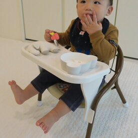 豆イス用テーブル N ミニチェア用テーブル 日本製 ( 机 テーブル 設置 豆いす ミニチェア ベビーチェア 用 簡単 子供用机 キッズテーブル 豆椅子 後付け 白 ホワイト )