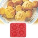 キャラクター シリコンケーキ型 ミッキーマウス ( 製菓用具 マドレーヌ型 シリコン製 ミッキー )