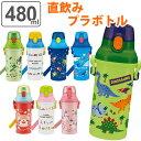 水筒 直飲み プラスチック ワンタッチボトル 480ml 子供 ノンキャラクター 軽量 ( 幼稚園 保育園 食洗機対応 キッズ …