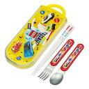 トリオセット 抗菌 箸 スプーン フォーク スライド トミカ カトラリーセット ( 食洗機対応 カトラリー スライド式 お…