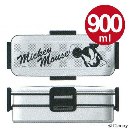 (キャラアウトレット)お弁当箱 2段 タイトランチボックス ミッキーマウス モード 900ml ステンレス製 メンズ ( 激安 特価セール 格安 在庫処分 売り尽くし 売切御免 )