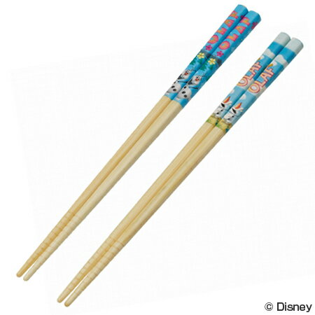 (キャラアウトレット)竹箸 21cm アナと雪の女王 オラフ すべり止め加工 子供用 ( 激安 特価セール 格安 在庫処分 売り尽くし 売切御免 )
