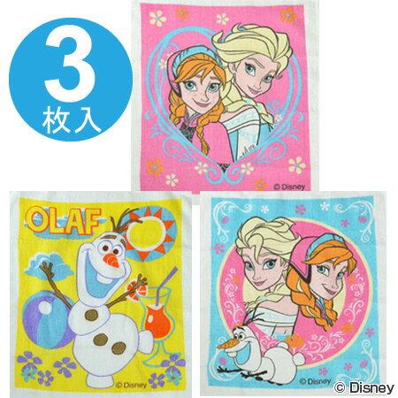 ■在庫限り・入荷なし■(キャラアウトレット)おしぼりタオル アナと雪の女王 3柄 3枚セット 子供用 キャラクター