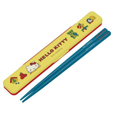 (キャラアウトレット)箸&箸箱セット ハローキティ ヴィンテージ 音の鳴らないクッション付 18cm キャラクター ( 激安 特価セール 格安 在庫処分 売り尽くし 売切御免 )