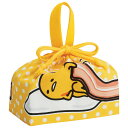 お弁当袋 ランチ巾着 ぐでたま 子供用 キャラクター ( 給食袋 ランチボックス巾着 子供用お弁当袋 子ども用 サンリオ )